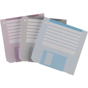 "Staples® Stickies™ 3"" x 3"" Floppy Disk Notes, Blue/Gray/Purple, 3/Pack (22967)"