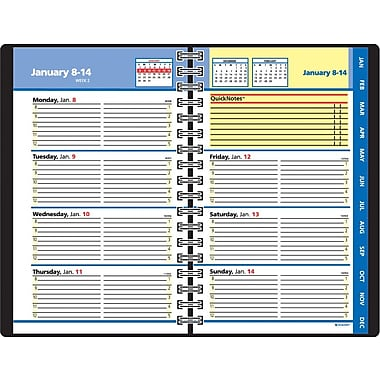 "2014 AT-A-GLANCE® QuickNotes® Weekly/Monthly Appointment Book, 4 7/8"" x 8"""