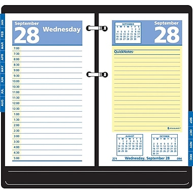 2013 AT-A-GLANCE® QuickNotes® Recycled Daily Calendar Refill, 3-1/2in. x 6in.
