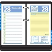 2013 AT-A-GLANCE® QuickNotes® Recycled Daily Calendar Refill, 3-1/2 x 6