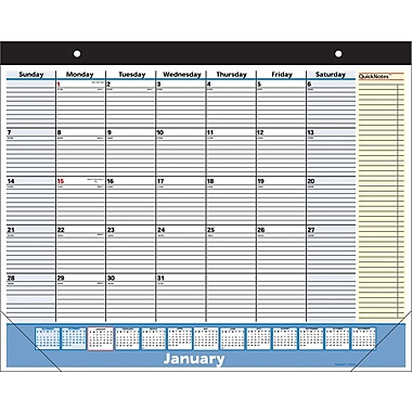 "2014 AT-A-GLANCE® QuickNotes® Desk Pad, 22"" x 17"""