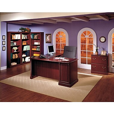 Bush® Saratoga Collection 5-Shelf Bookcase, Harvest Cherry