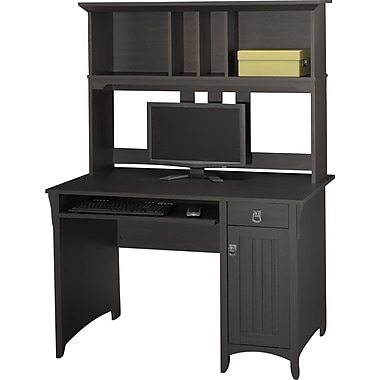 Bush® Salinas Collection Mission Desk & Hutch, Aged Tobacco