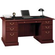 Bush® Saratoga Collection Managers Desk, Harvest Cherry