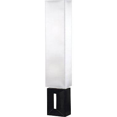 Kenroy Niche Incandescent Floor Lamp, Black Finish