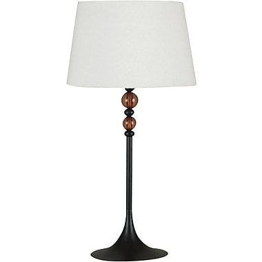 Kenroy Luella Incandescent Table Lamps, Oil Rubbed Bronze Finish with Amber Acrylic Accents, 2/Pack