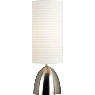 Kenroy Bandeau Incandescent Table Lamp, Brushed Steel Finish