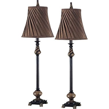 Kenroy Aruba Incandescent Buffet Lamps, Oil Rubbed Bronze Finish, 2/Pack
