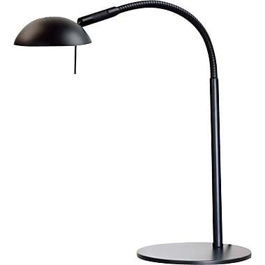 Kenroy Basis Halogen Desk Lamp, Black Finish
