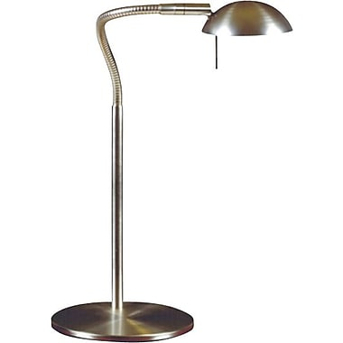 Kenroy Home Basis Halogen Desk Lamp, Brushed Steel Finish