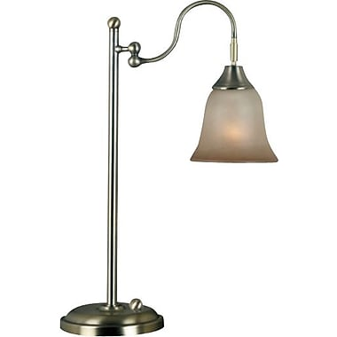 Kenroy Horton Incandescent Desk Lamp, Vintage Brass Finish