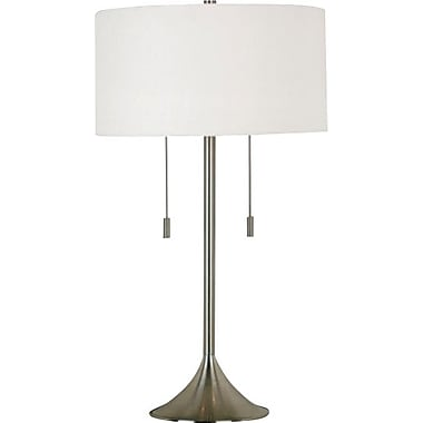 Kenroy Home Stowe Table Lamp, Brushed Steel Finish