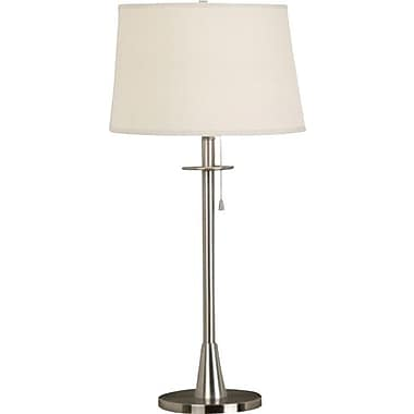 Kenroy Home Rush Table Lamp, Brushed Steel Finish