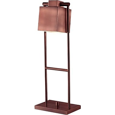 Kenroy Crimmins Incandescent Desk Lamp, Vintage Copper Finish