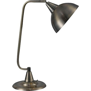 Kenroy Hanger Incandescent Desk Lamp, Antique Brass Finish