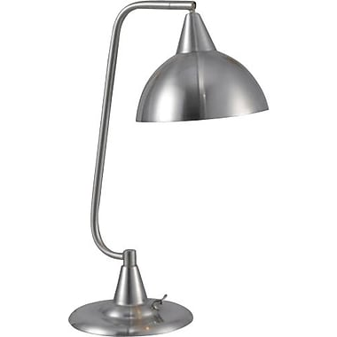 Kenroy Hanger Incandescent Desk Lamp, Brushed Steel Finish