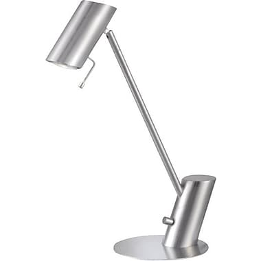 Kenroy Baker Halogen Desk Lamp, Brushed Steel Finish