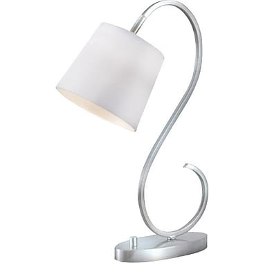 Kenroy Wilson Incandescent Desk Lamp, Brushed Steel Finish