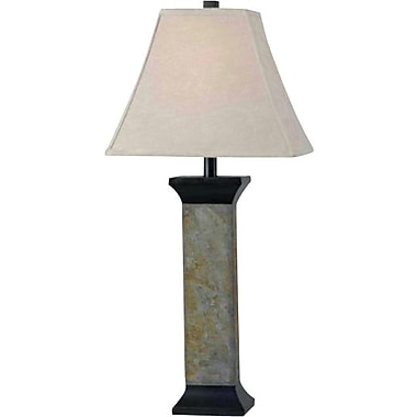 Kenroy Home Suffield Table Lamp, Natural Slate Finish