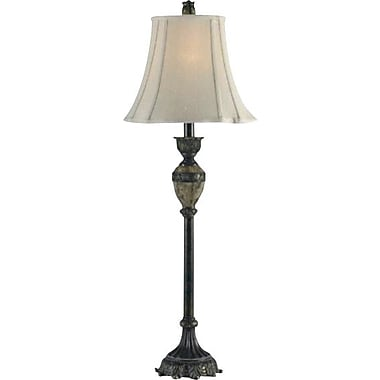 Kenroy Baroness Incandescent Buffet Lamps, Bronze with Marble Finish Accents, 2/Pack