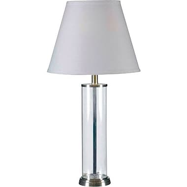 Kenroy Home Echo Table Lamp, Glass Finish with Brushed Steel Finish Accents