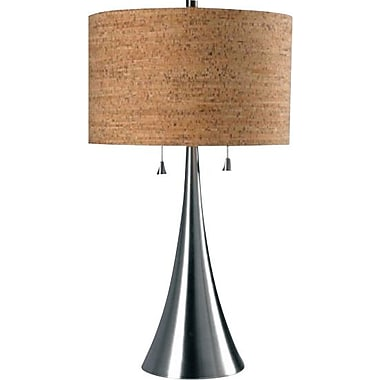 Kenroy Home Bulletin Table Lamp, Brushed Steel Finish