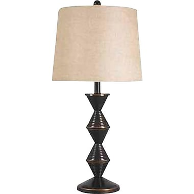 Kenroy Home Topsy Table Lamp, Oil Rubbed Bronze Finish