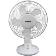 Optimus Oscillating Table Fan, White, 12""