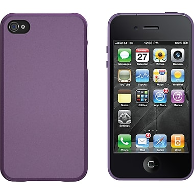 Xtreme Mac Microshield Hard Cases with Metallic Finish for iPhone 4/4s, Plum