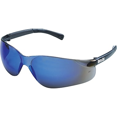 MCR Safety® BearKat® Crews ANSI Z87 Safety Glasses, Blue Mirror