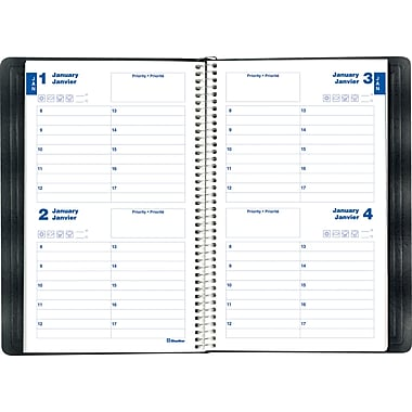Blueline® Undated 2-Day Perpetual Date Book, 8