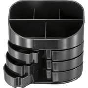 OIC® 2200 Series Black Plastic Double Supply Organizer