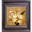 Hand Painted in.Orchidin. Framed Canvas Artwork, 21x21