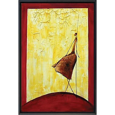 Hand Painted in.Dancing On The Sun 2in. Framed Artwork, 19x23