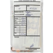 "MMF Industries™ Cash Transmittal Bags, Clear, 9""H x 6""W"