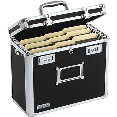 Vaultz® Personal File Tote, Letter, Black/Chrome