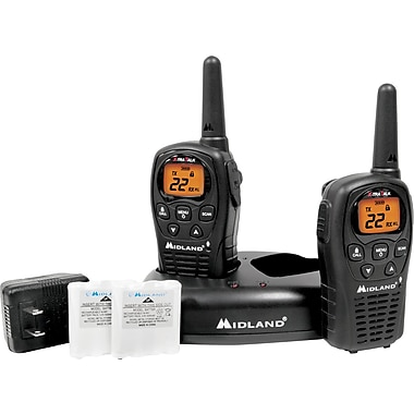 Midland LXT500VP3 Two Way Radios with Dual Power Options