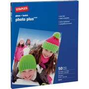 "Staples® Photo Plus Paper, 8 ½"" x 11"", 50/Pack"