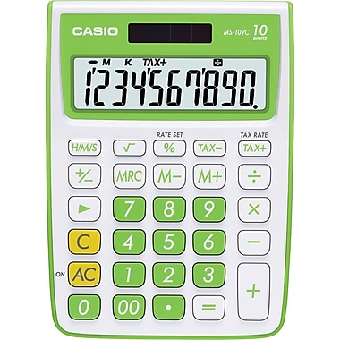 Casio MS10VC-GN 10-Digit Display Calculator, Green