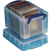 Really Useful Box® 3 Liter Box with Handles, Clear
