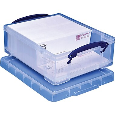 Really Useful Box 8.1 Liter Box with Handles, Clear