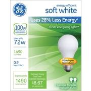 GE Halogen Bulb, 72 Watt, 1490 Lumen, Soft White, 2/Pk
