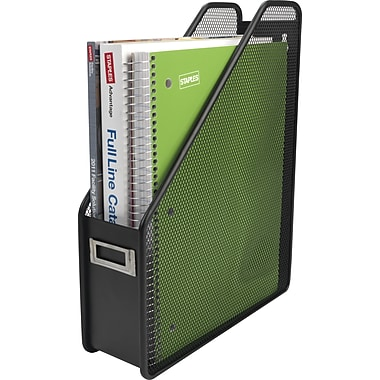 Staples® Black Wire Mesh Magazine File