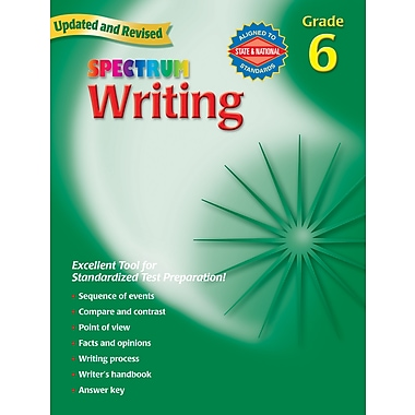 Spectrum Writing Workbook, Grade 6.