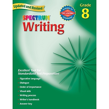 Spectrum Writing Workbook, Grade 8