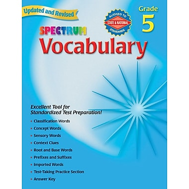 Spectrum Vocabulary Workbook, Grade 5