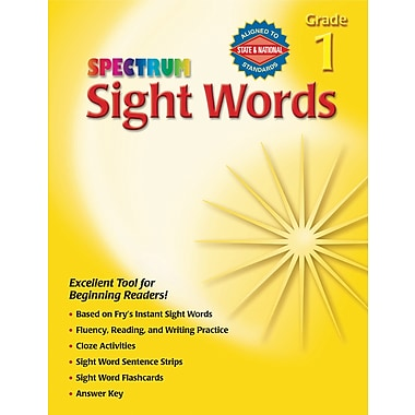 Spectrum Sight Words Workbook, Grade 1