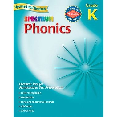 Spectrum Phonics Workbook, Grade K