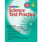 Spectrum 0769680666 Science Test Practice Workbook, Grade 6