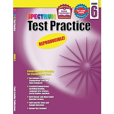 Spectrum Test Practice Workbook, Grade 6